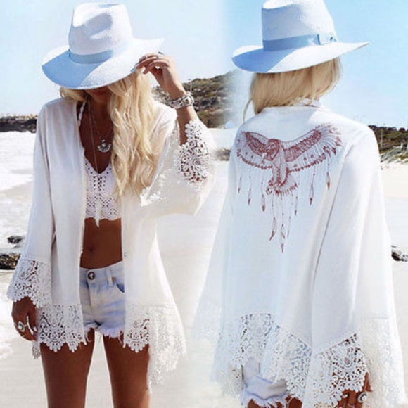 Other - BOHO Beach Cover up - WHITE